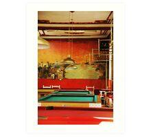 Pool hall Bogota Art Print