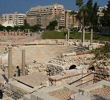 Alexandria's Roman Amphitheater by Laurel Talabere