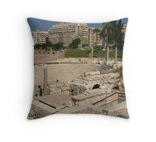 Alexandria's Roman Amphitheater Throw Pillow