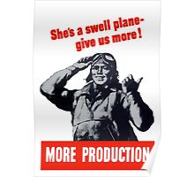 She's A Swell Plane - Give Us More Poster