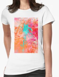 Color Explosion Womens Fitted T-Shirt