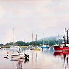 Stage Harbor in fog by bettywiley