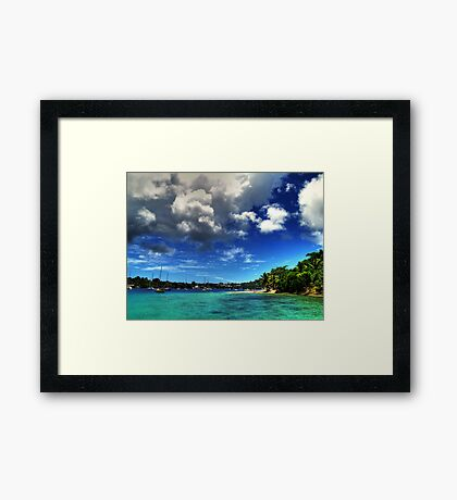 From where I'd rather be Framed Print