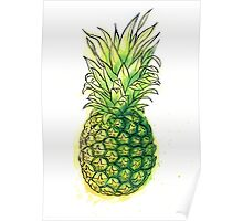 Watercolour pineapple Poster