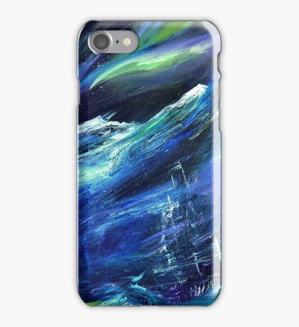 Polaris - Ship in an Arctic Storm Painting iPhone Case/Skin