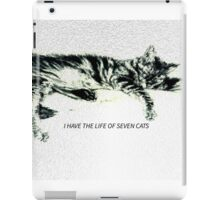 I Have The Life Of Seven Cats iPad Case/Skin