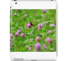 """ Pink Thistle Meadow "" iPad Case/Skin"