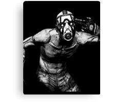 Borderlands - Psycho Black and White Design (2) Canvas Print