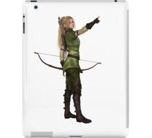 Blonde Female Elf Archer, Pointing iPad Case/Skin