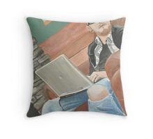 Interrupted Thought Throw Pillow