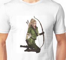 Blonde Female Elf Archer, Kneeling Unisex T-Shirt