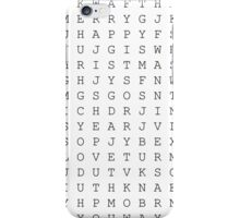 Universal puzzle word iPhone Case/Skin