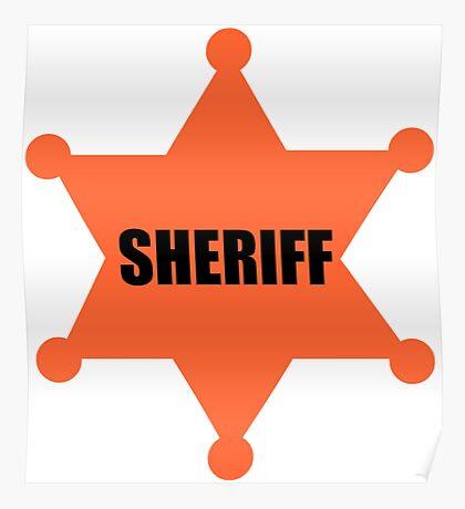 Sheriff's Badge Poster