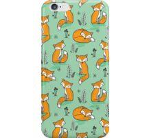 Dreamy Fox in Green iPhone Case/Skin
