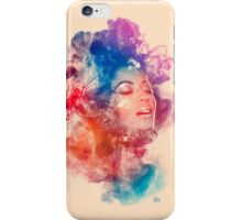 Beyonce Giselle Knowles watercolor Portrait - Beyoncé iPhone Case/Skin