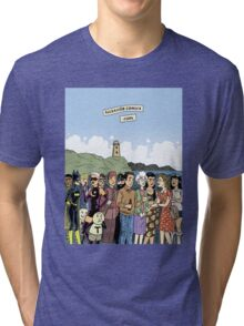 Hicksville Comics Beach Party Tri-blend T-Shirt