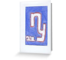 Giants New Year Greeting Card