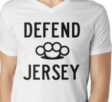 Defend Jersey Mens V-Neck T-Shirt