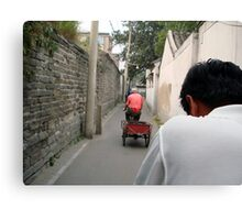 Rickshaw through the Hutong, Beijing, China Canvas Print