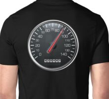 MOTORSPORT, SPEEDO, Speedometer, Speed meter, Racing Cars, BLACK Unisex T-Shirt