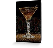 Martini X Greeting Card