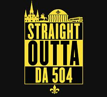 Straight Outta Da 504 (Black and Gold) Women's Fitted V-Neck T-Shirt