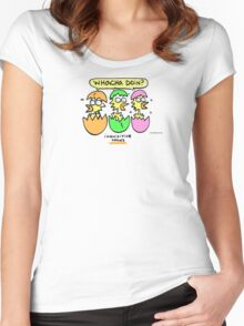 Inquisitive Chicks (REVISITED) Women's Fitted Scoop T-Shirt