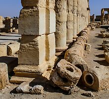 2000 year old interlocking stone water pipes at Palmyra .... being destroyed by MarcW