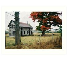 Old Ozark House 3 Art Print
