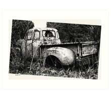 Old Truck in a Field Art Print
