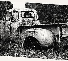 Old Truck in a Field by Rick Baber
