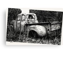 Old Truck in a Field Canvas Print