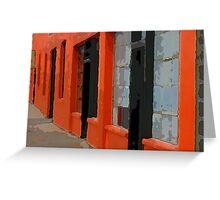 Orange Building Greeting Card