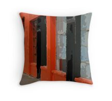 Orange Building Throw Pillow