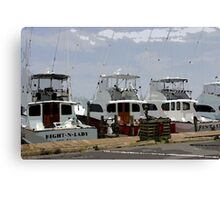 Oregon Inlet Boats Canvas Print