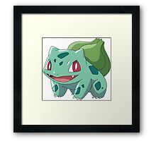 Bulbasaur Pokémon Framed Print