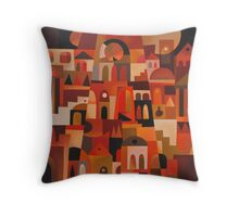 ANCIENT FACADE II Throw Pillow