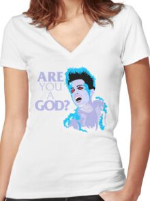 Are You A God? Women's Fitted V-Neck T-Shirt