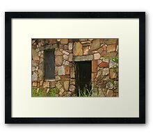 Rock Building at Cedarville Framed Print