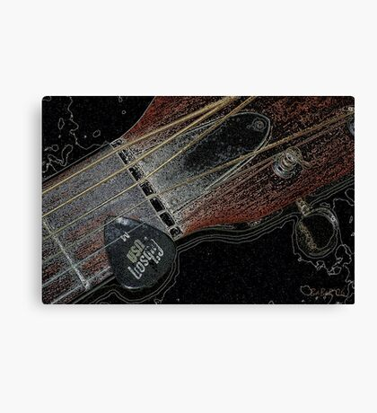 Sigma Guitar Canvas Print