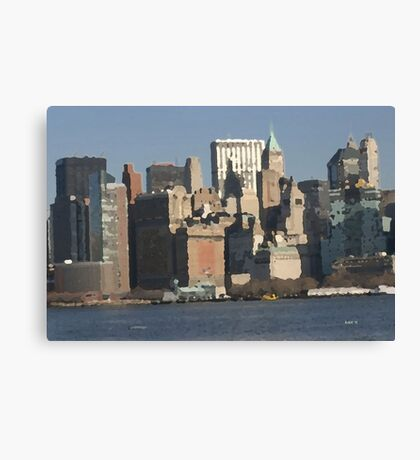 View from the Harbor Canvas Print