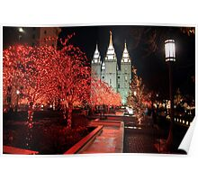 Salt Lake Temple - Christmas Lights Poster