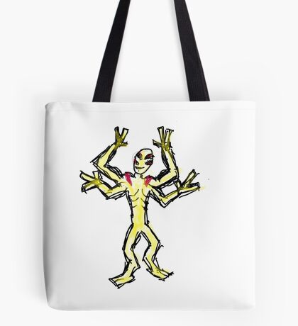 The Fya (funny yellow alien) Tote Bag