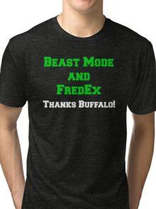 Beast Mode and FredEx Tri-blend T-Shirt