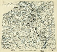 World War II Twelfth Army Group Situation Map January 9 1945 by allhistory