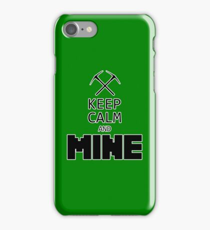 Minecraft - Keep Calm and Mine iPhone Case/Skin