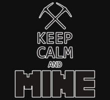 Minecraft - Keep Calm and Mine One Piece - Short Sleeve