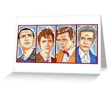 The Four Doctors Greeting Card