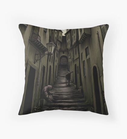Rue d'Auseil Throw Pillow
