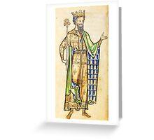 Medieval Edward I king of England illustration Greeting Card